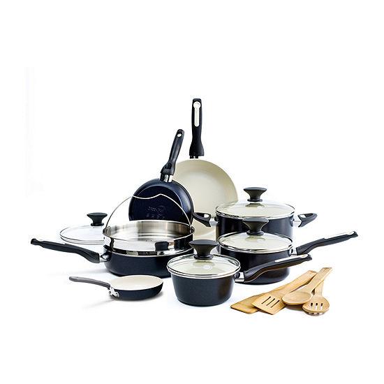 GreenPan Rio Ceramic 16-pc. Aluminum Dishwasher Safe Non-Stick Cookware Set