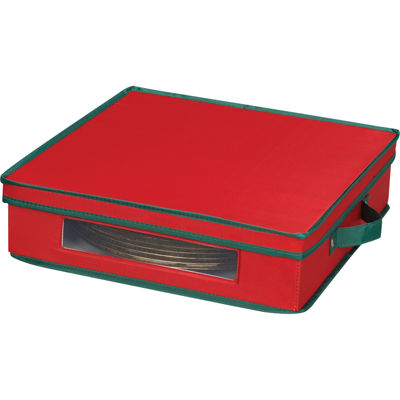 Household Essentials® Red Holiday Charger Plate Storage Chest