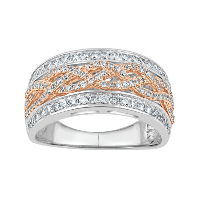 3/4 CT. T.W. Diamond 10K Two-Tone Gold Ring
