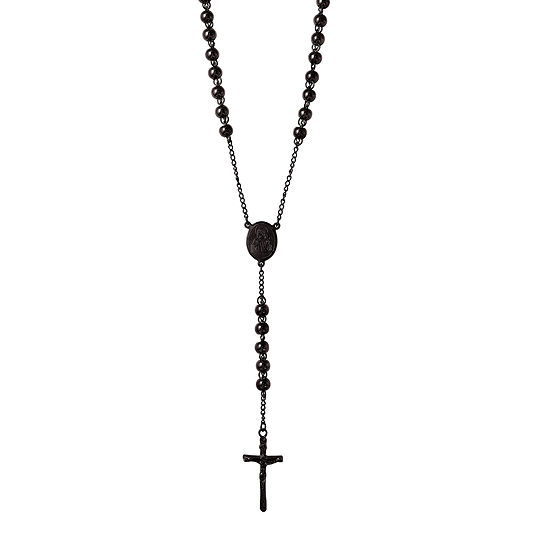 wid stainless p resmode rosary jcpenney hei black steel mens sharpen op necklace