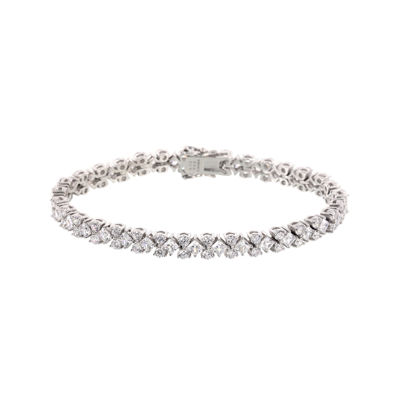 DiamonArt® 17.19 CT. T.W. Cubic Zirconia Sterling Silver Tennis Bracelet