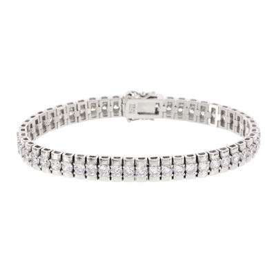 DiamonArt® 15.8 CT. T.W. Cubic Zirconia Sterling Silver Double Tennis Bracelet
