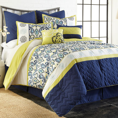 Lyla Embroidered 8-pc. Comforter Set