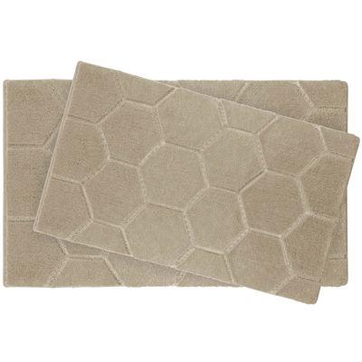 Laura Ashley™ 2-pc. Pearl Honeycomb Bath Rug Set