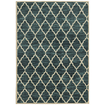 Covington Home Scallop Geo Rectangular Rug