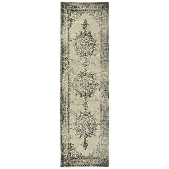Covington Home Buckingham Distressed Runner Rug