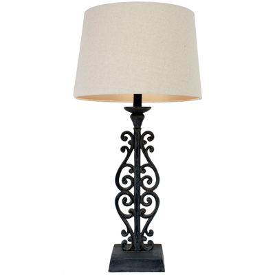 J. Hunt Home Faux-Distressed Iron Table Lamp