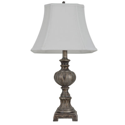 J. Hunt Home Carved Silver-Tone Table Lamp