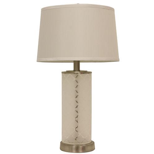 J. Hunt Home Quatrefoil Etched-Glass Table Lamp