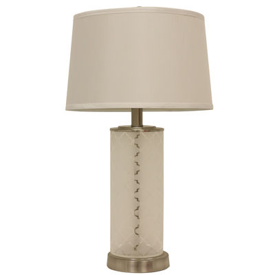 J. Hunt Home Quatrefoil Etched Glass Table Lamp