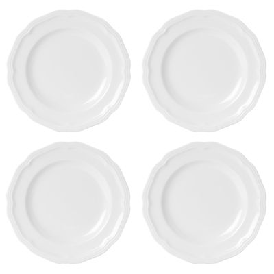 Mikasa® Antique White Set of 4 Porcelain Bread and Butter Plates