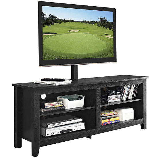 """58"""" Simple Wood TV Stand with Mount"""