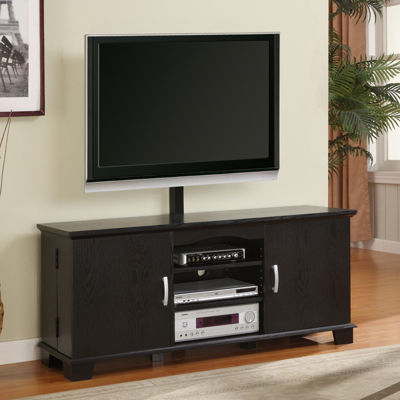 "Rizzo 60"" Black TV Stand with TV Mount"