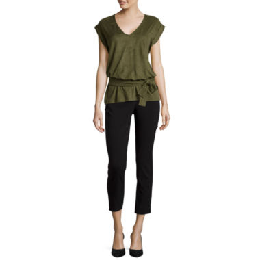 jcpenney.com | Worthington® Faux-Suede Top or Centennial Ankle Pants