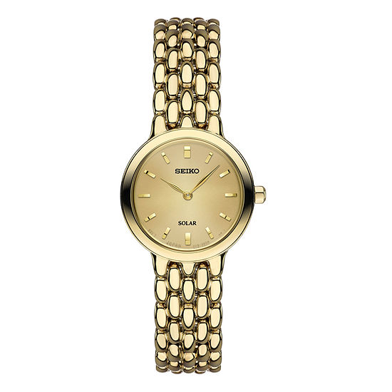 Seiko Womens Gold Tone Stainless Steel Bracelet Watch-Sup352