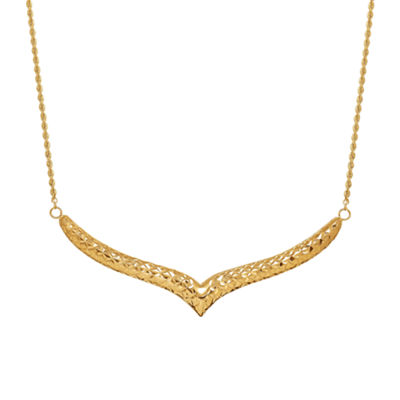 Limited Quantities! Womens 14K Gold Collar Necklace