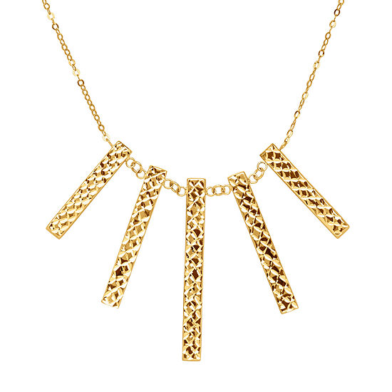 Limited Quantities! Womens 14K Gold Statement Necklace