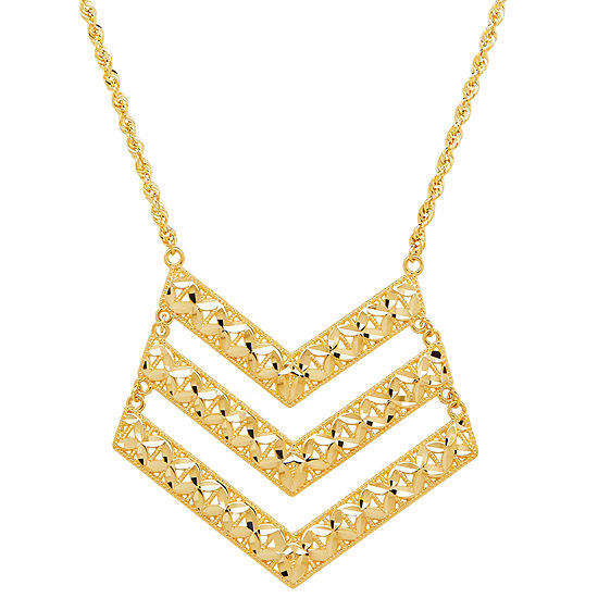 Limited Quantities! Womens 14K Gold Chevron Necklaces