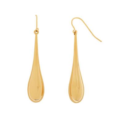 Limited Quantities 14K 42Mm Long Tear Drop Earrings