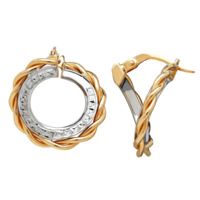 Made In Italy Limited Quantities! 14K Gold 18.5mm Hoop Earrings