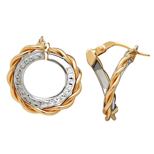 Made In Italy Limited Quantities! 14K Gold Hoop Earrings