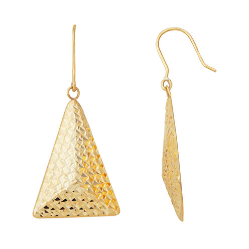 Limited Quantities 10K Triangle Pyramid Earrings