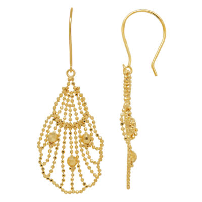 Limited Quantities 10K Open Beaded Drop Design Earrings