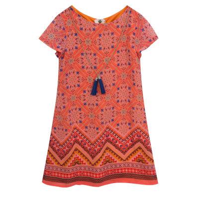 Rare Editions Short Sleeve Skater Dress - Preschool Girls