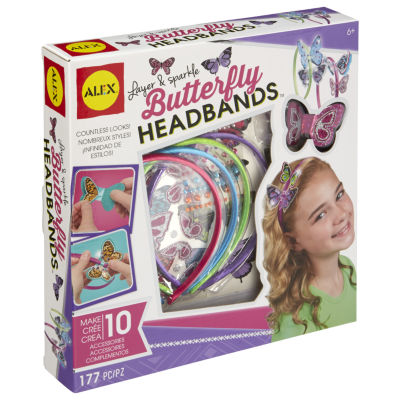 ALEX Toys DIY Wear Layer and Sparkle Butterfly Headbands