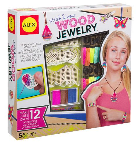 ALEX Toys DIY Wear Stitch & Wear Wood Jewelry