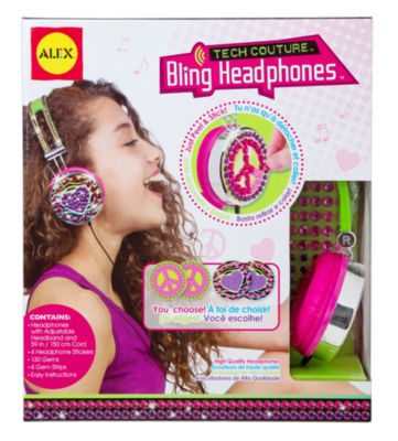 ALEX Toys DIY Wear Pink and Green Tech Couture Bling Headphones