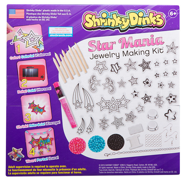 Shrinky Dinks Star Mania Jewelry Kit