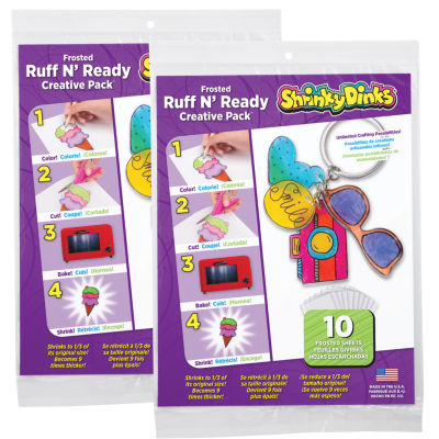 Shrinky Dinks Creative Pack 20 Sheets Frosted Ruffn' Ready