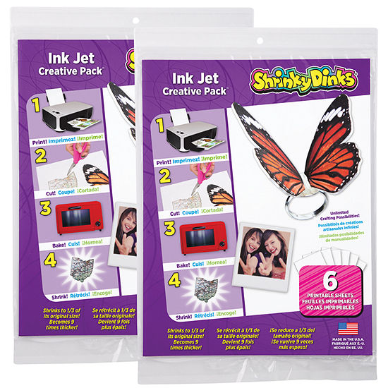 Shrinky Dinks Creative Pack 12 Sheets for Ink JetPrinters