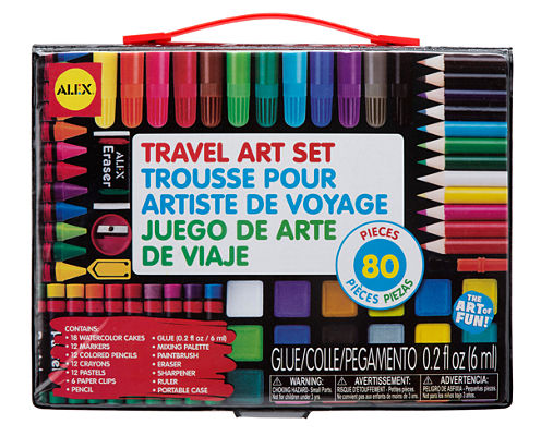 ALEX Toys Artist Studio Travel Art Set with Carrying Case