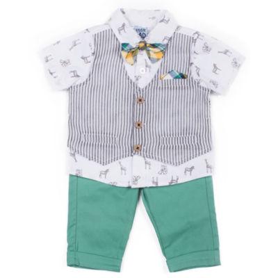 Little Lass 3-pc. Pattern Pant Set Baby Boys