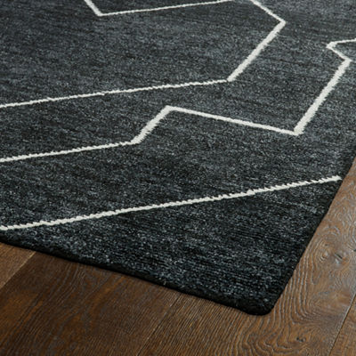 Kaleen Solitaire Diamond Rectangular Rug