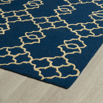 Kaleences Lattice Rectangular Rug