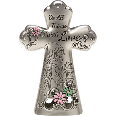 "Precious Moments  ""Do All Things With Love""  Mini Tabletop Cross  Zinc Alloy  #163421"
