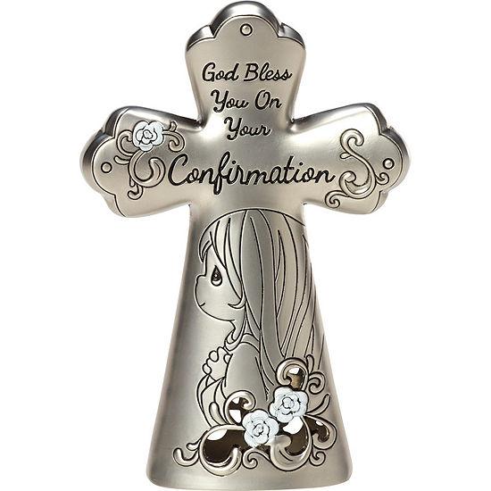 "Precious Moments  Confirmation Gifts  ""Confirmation Mini Tabletop Cross""  Zinc Alloy  Girl  #163513"