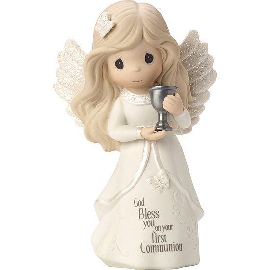 """Precious Moments  """"Communion Angel""""  Bisque Porcelain Figurine  #163051"""
