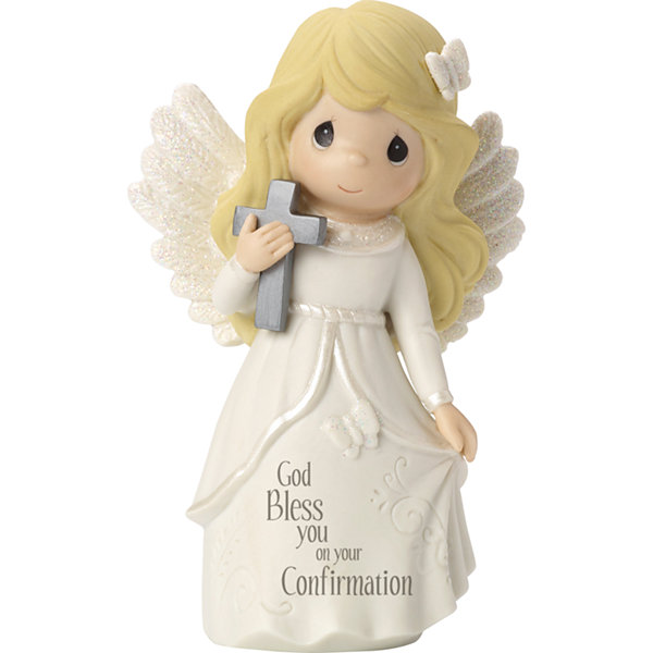 "Precious Moments  Confirmation Gifts  ""Confirmation Angel""  Bisque Porcelain Figurine  #163052"