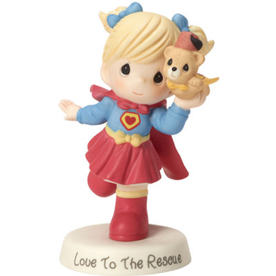 "Precious Moments  Appreciation gift  ""Love To The Rescue"" Bisque Porcelain Sculpture  #163017"