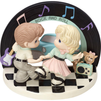 "Precious Moments  ""I Love The Way We Rock And Roll""  Limited Edition  Bisque Porcelain Sculpture#163060"