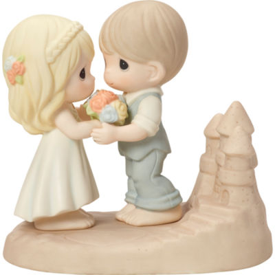 "Precious Moments  ""Loving You Is A Dream Come True""  Bisque Porcelain Figurine  #163009"
