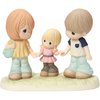 "Precious Moments  ""Family Is A Gift That Lasts Forever""  Bisque Porcelain Figurine  #163014"