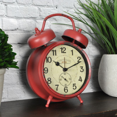 FirsTime® Red Double Bell Table Clock