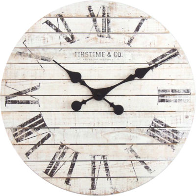 FirsTime® Shiplap Wall Clock