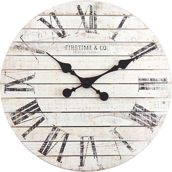 Firstime Shiplap Wall Clock-10066