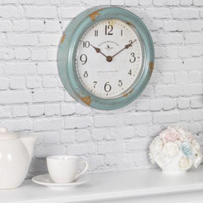 FirsTime® Teal Patina Wall Clock